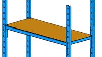 """""""Een houten plank op een legplank met een buistructuur."""" title=""""Een houten plank op een legplank met een buistructuur"""""""