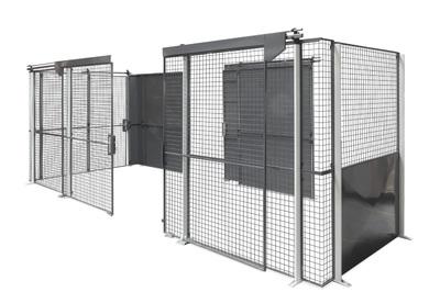 """""""Er zijn verschillende opties mogelijk bij het bouwen vaan een gaaswand, zoals volplaten elementen of vrije doorgangen voor heftrucks."""" title=""""Er zijn verschillende opties mogelijk bij het bouwen vaan een gaaswand, zoals volplaten elementen of vrije doorgangen voor heftrucks."""""""
