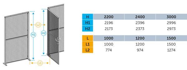 """""""Specificatie voor modulairevleugeldeur aan staander"""" title=""""Specificatie voor modulairevleugeldeur aan staander"""""""