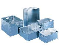 """Aluminium transport manden in verschillende formaten. Op maat kopen"" title=""Aluminium transport manden in verschillende formaten."""