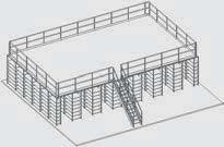 """""""Het is mogelijk om een tussenvloer te bouwen bovenop Advance stalen rek stelling"""" title=""""Het is mogelijk om een tussenvloer te bouwen bovenop Advance stellingen"""""""