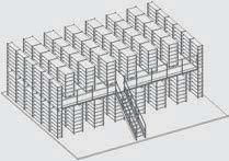 """""""Het is mogelijk omAdvance stalen rek stellingen door te laten lopen op een nieuwe verdieping van een tussenvloer"""" title=""""Het is mogelijk om Avance stellingen door te laten lopen op een nieuwe verdieping van een tussenvloer"""""""