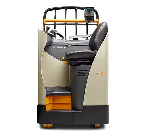 """""""Pallettruck met ergonomische zetel voor personen voor een uitzonderlijk rijcomfort"""" title=""""Ergonomische zetel voor personen voor een uitzonderlijk rijcomfort"""""""