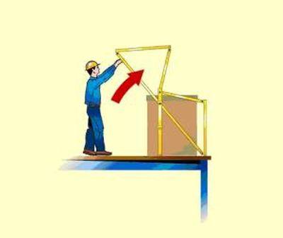 """""""De 2de stap hoe een kantelhek werkt"""" title=""""Hoe werkt een kantelhek stap 2"""""""