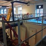 Tussenvloer voor opslag - VUB  Brussel - Trappengang
