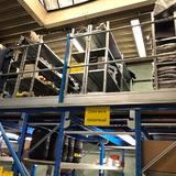 Tussenvloer op stelling - Epsivol en Advance - Boven het platform legbordstelling