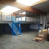 Tussenvloer voor Kantoor - Garageruimte met kantoor op het platform