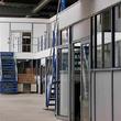 Tussenvloer voor kantoor - Trappengangen voor verschillende doorgangen te maken