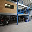 Tussenvloer voor opslag Rennen - meer ruimte door twee niveau's van tussenvloeren